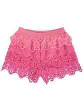 Girls Crochet Lace Short