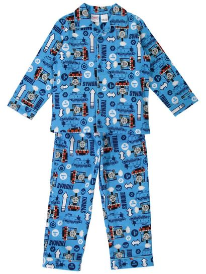Boys Thomas The Tank Engine Flannelette Pyjamas