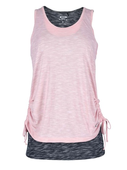Elite 2-In-1 Ruche Tank Womens