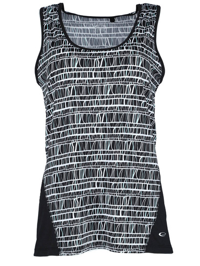 Plus Elite Print Colour Block Tank Womens