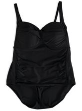 PLUS TWIST FRONT ONE PIECE SWIMSUIT WOMENS