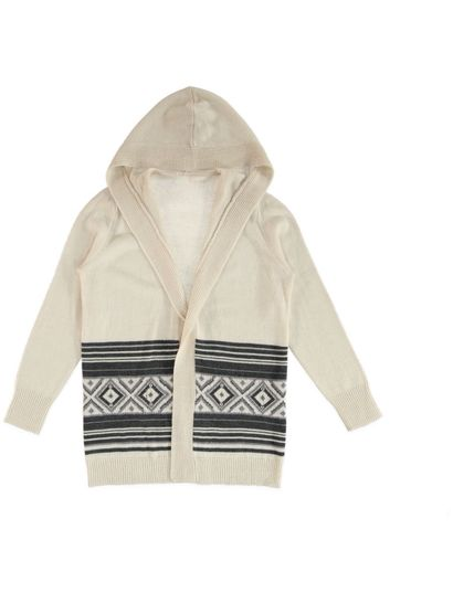 Aztec Border Hooded Cardi Womens