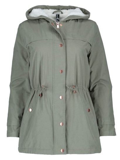 Sherpa Hooded Parka Womens