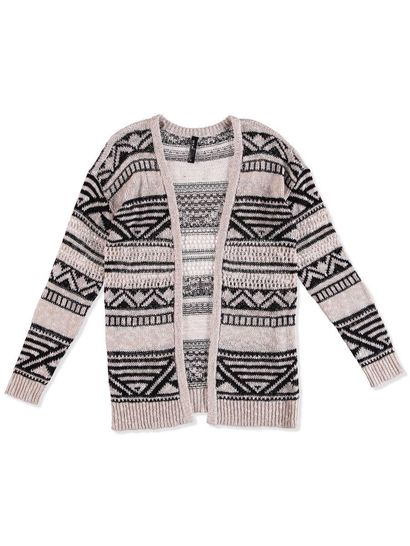 PLUS AZTEC CARDIGAN WOMENS
