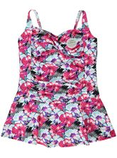 PLUS SKIRTED ONE PIECE SWIMSUIT WOMENS