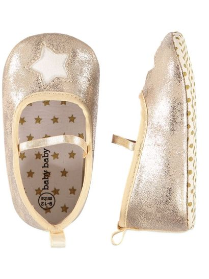 Baby Girl Gold Star Metallic Ballet