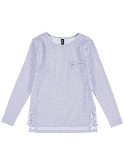 Plus Lace Hem Pullover Womens