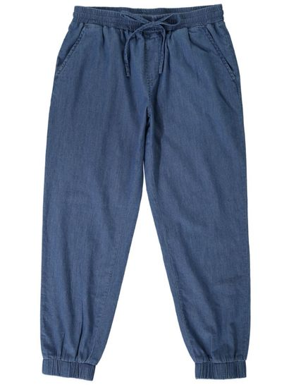Womens Chambray Crop Pant