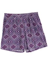 WOMENS PLUS SIZE PRINTED SHORT