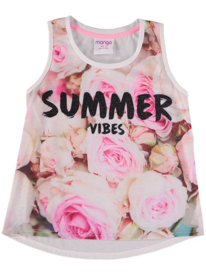 Girls Floral Sublimated Tank