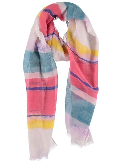 Womens Stripe Scarf