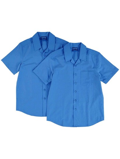 Boys Pk 2 School Shirts Layback