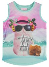 TODDLER GIRLS CHEETAH PRINT TANK