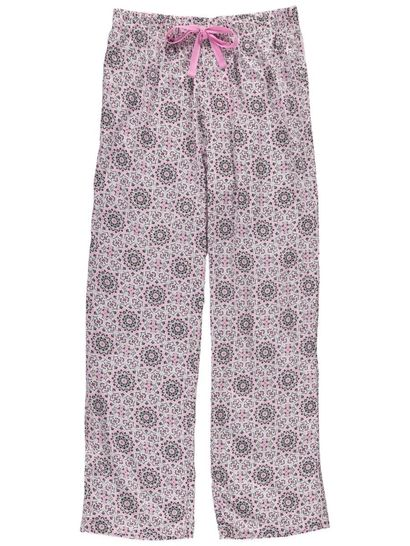 Woven Long Length Pants Womens Sleepwear