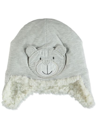 BABY monkey character HAT WITH SHERPA LINING