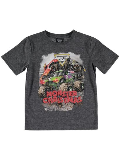 Boys Xmas Monster Jam T-Shirt