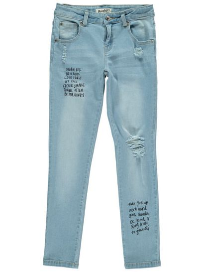 Girls Black Graffiti Jean