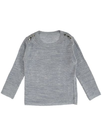 Textured Ombre Stripe Pullover Womens