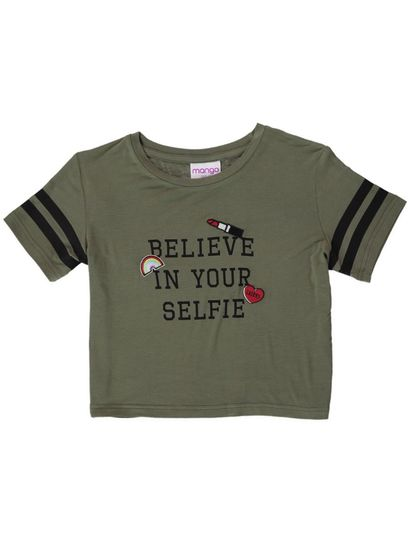 Girls Short Sleeve Print Tshirt