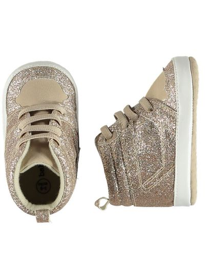 Baby Girl Soft Sole Glitter  High Top