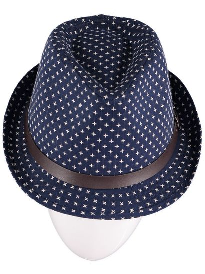 Boys Navy Fedora