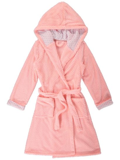 Coral Fleece Hooded Dressing Gown Womens