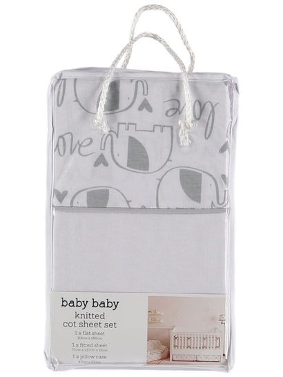 Baby Cot Sheet 3 Piece Set
