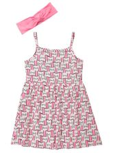 TODDLER GIRLS PRINT DRESS