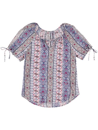 Tie Neck Gypsy Womens