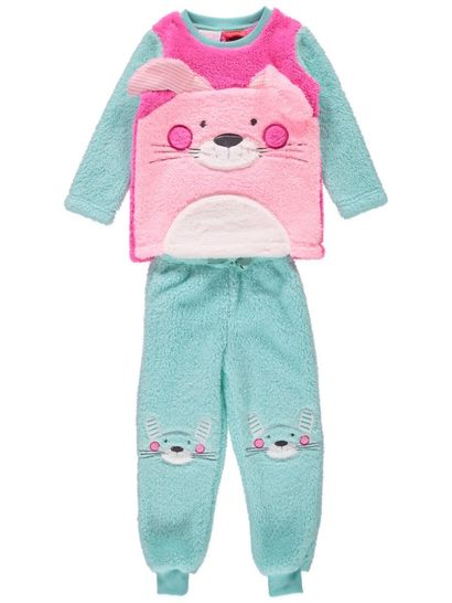 Girls Sherpa Fleece Bunny Pyjamas