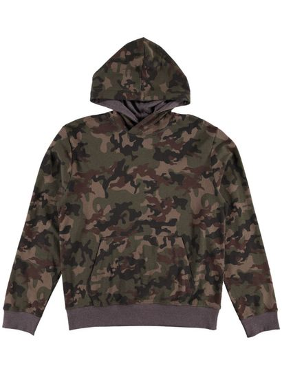 Mens Camo Pullover Hoodie