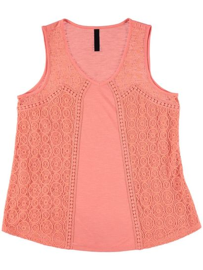 Lace Trim Tank Womens