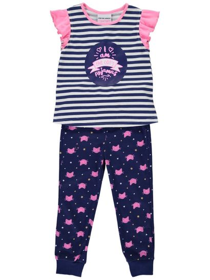Girls Ruffle Sleeve Knit Pyjama