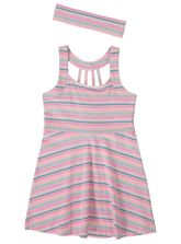 TODDLER GIRLS RACER BACK KNIT DRESS