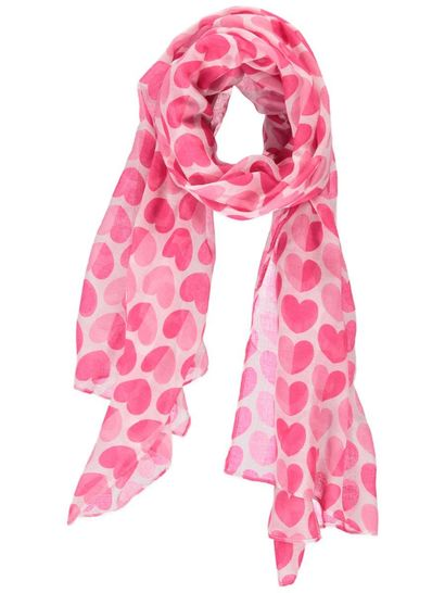 Womens Love Heart Scarf