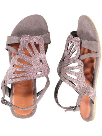 Girls Grey Sandal