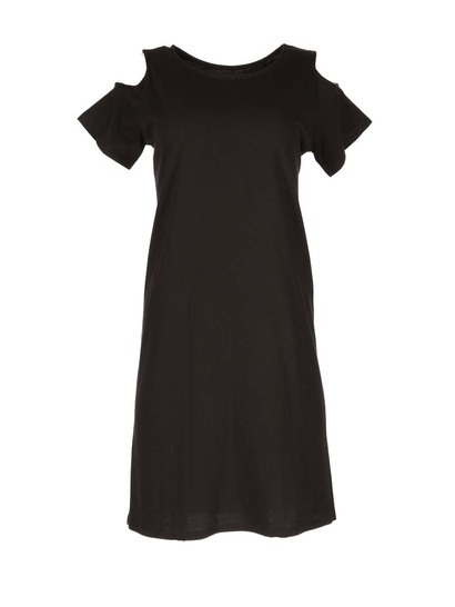 Womens Cold Shoulder T-Shirt Dress