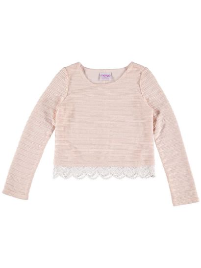 Girls Long Sleeve Knit Top
