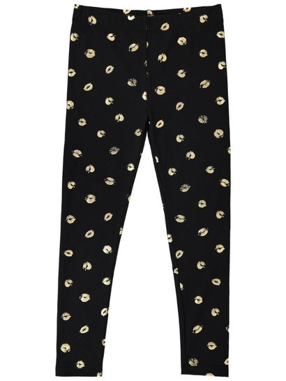 Girls Foil Print Leggings