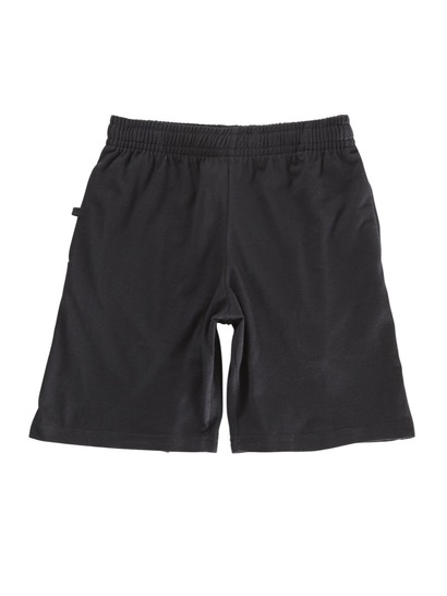 BLACK KIDS KNIT SHORTS