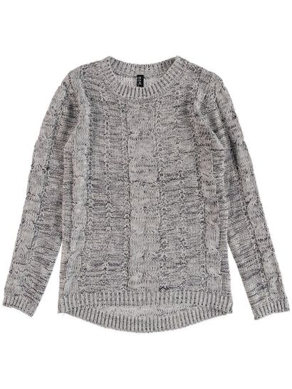 Cable Lurex Pullover Womens