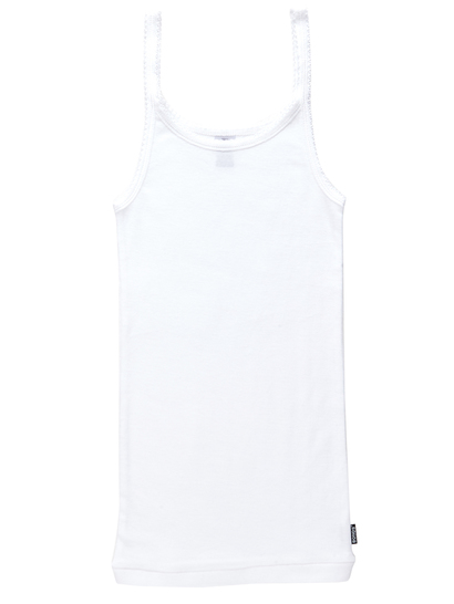GIRLS 3-14 BONDS SINGLET - WHITE