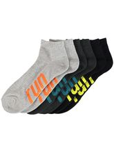Mens 3Pk Quarter Crew Elite Sock