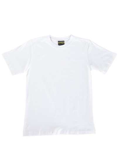 WHITE KIDS BASIC T-SHIRT