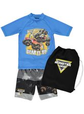 BOYS MONSTER JAM SWIMSET