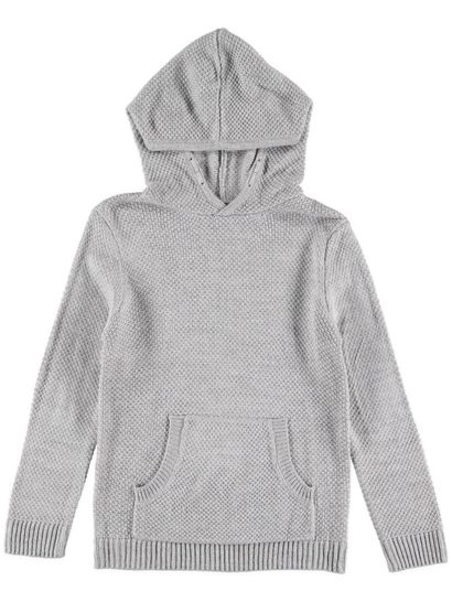 Boys Knit Pullover Hoodie