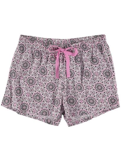 Woven Shorts Womens Sleepwear