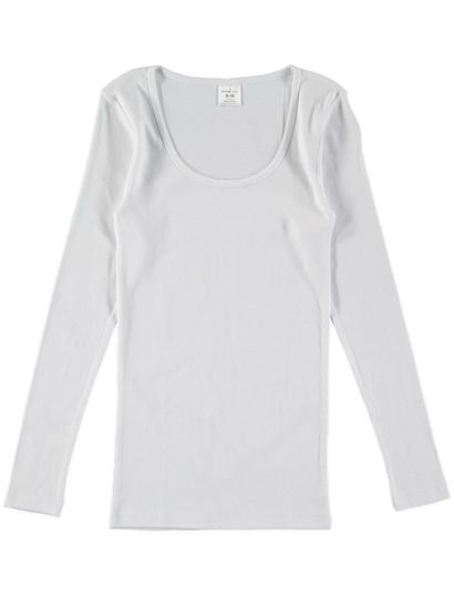 Thermal Long Sleeve Top Rib Womens
