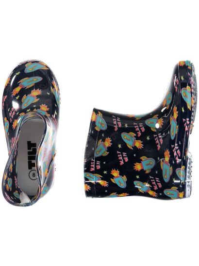 Toddler Boy Print Rainboots