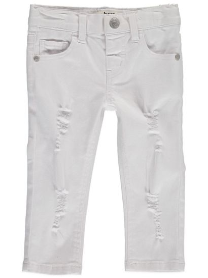Toddler Girls White Denim Jean